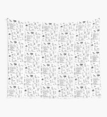 'List of Things that hold things Up or Together' Wall Tapestry
