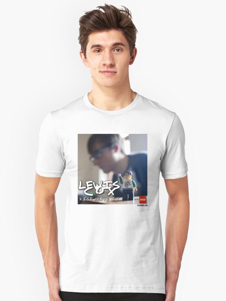 Lewis Cox - Rise Above It Unisex T-Shirt Front