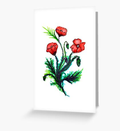 Poppies - Flowers Greeting Card