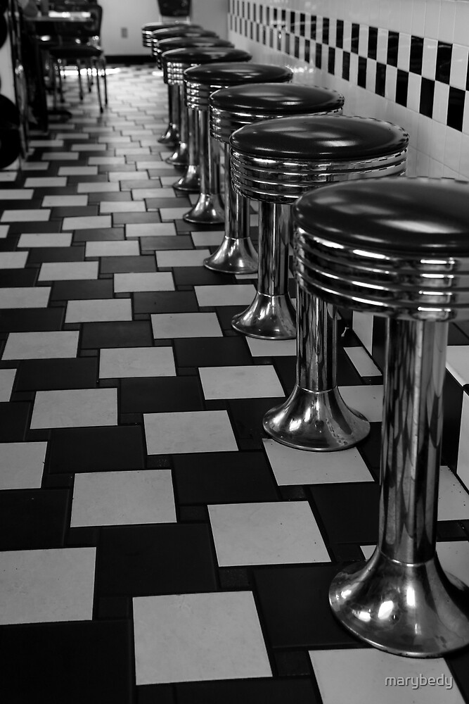 Diner Port Huron BW by marybedy