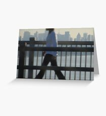 Walking to Work - New York City Greeting Card