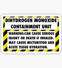 DIHYDROGEN MONOXIDE WARNING LABEL Sticker