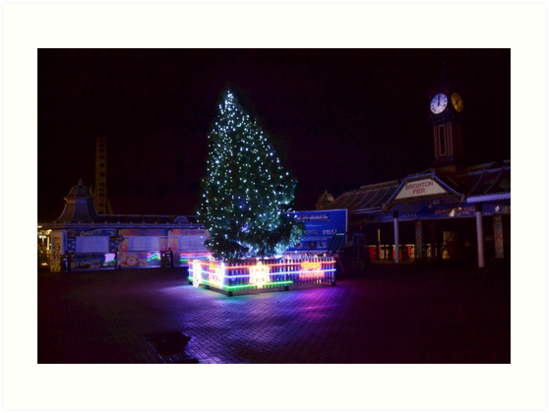 Pier Christmas Tree by Andy Broomfield