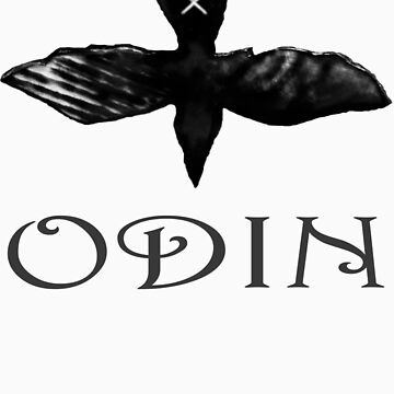 Odin Raven t-shirt by TheCroc1979