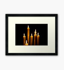 Candle Power Framed Print