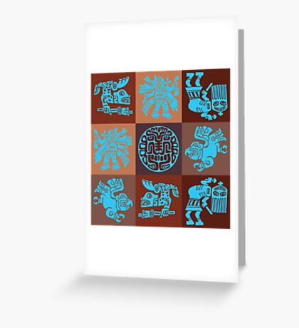 Inca Warriors Dance Greeting Card