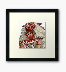 Mononoke's Bloody Knife Framed Print