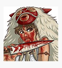Mononoke's Bloody Knife Photographic Print