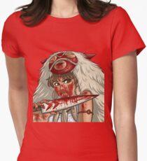 Mononoke's Bloody Knife Womens Fitted T-Shirt
