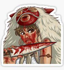 Mononoke's Bloody Knife Sticker