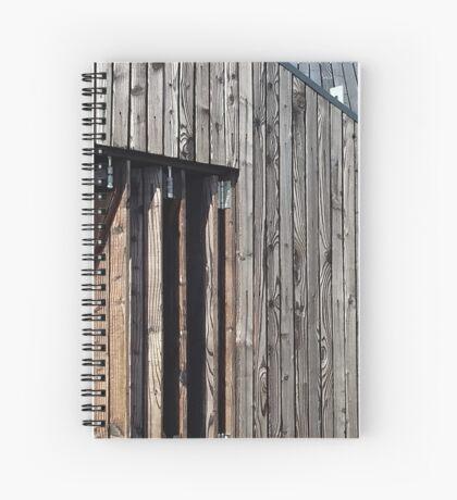 Wooden shack - near Falkirk, Scotland Spiral Notebook