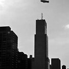 Blimp Over New York City by photographist