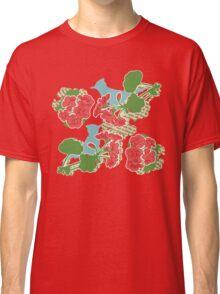 Geraniums and Blue Jays Classic T-Shirt