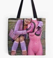 Pepto Bismol Girl with Dress Form Tote Bag