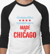 Made in Chicago Men's Baseball ¾ T-Shirt