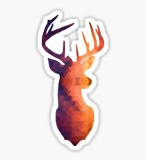 The Stag - Burnt Geometric Sticker