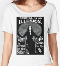 """Morticia Addams-""""Normal Is An Illusion..."""" Women's Relaxed Fit T-Shirt"""