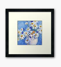 Camomile bouquet Framed Print