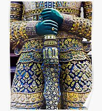 Thai warrior with sword Poster