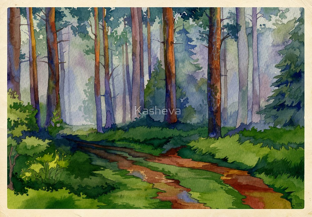 Evergreen forest by Kasheva