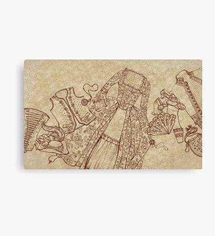 XVIII century clothin Canvas Print