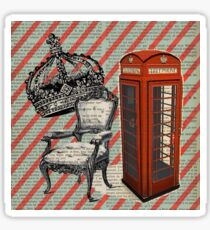 retro jubilee victorian chair london telephone booth Sticker