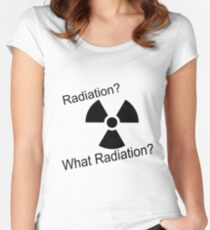 Radiation?  Women's Fitted Scoop T-Shirt