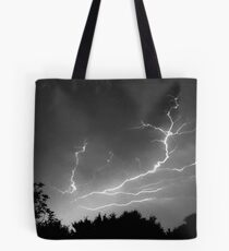 Cloud to Cloud Discharge #1. Tote Bag
