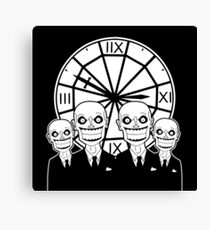The Gentlemen Clocktower Canvas Print