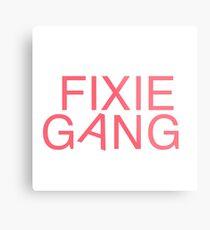 Fixie Gang - pink Metal Print