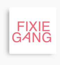 Fixie Gang - pink Canvas Print