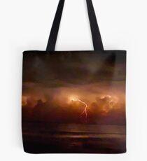 Lightning and Surf #2. Melbourne Shores. Tote Bag