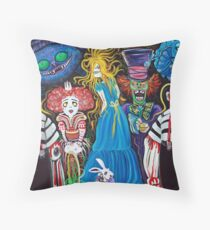 Alice in Zombieland Throw Pillow