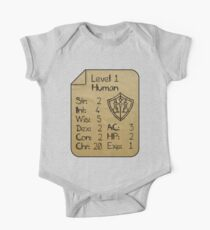 Level 1 - Human [only for Nerd Babies] Baby Body Kurzarm