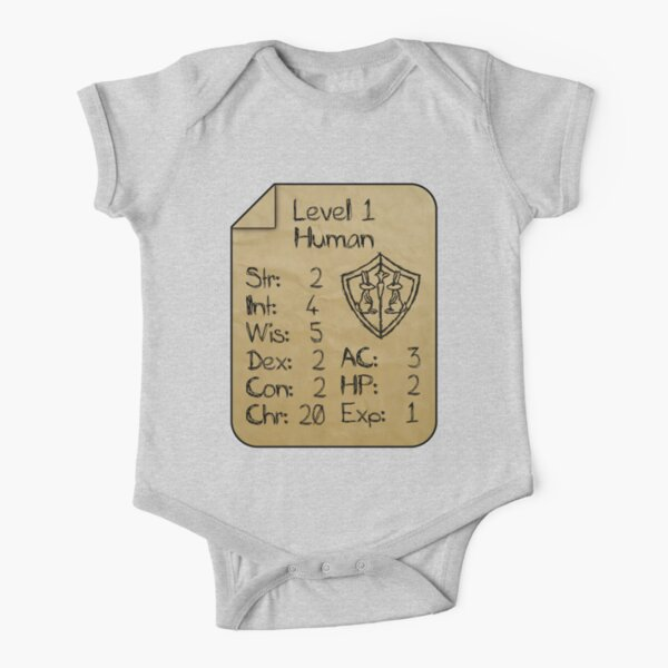 Level 1 - Human [only for Nerd Babies] Short Sleeve Baby One-Piece