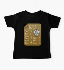 Camiseta para bebés Level 1 - Human [only for Nerd Babies] -Original Colors