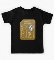 Level 1 - Human [nur für Nerd Babies] - Originalfarben Kinder T-Shirt