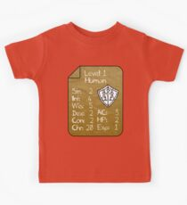 Level 1 - Human [only for Nerd Babies] -Original Colors Kids Tee
