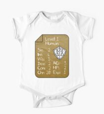 Level 1 - Human [only for Nerd Babies] -Original Colors One Piece - Short Sleeve