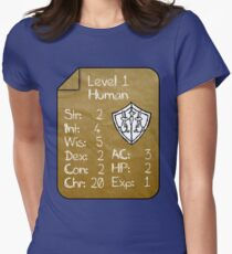 Level 1 - Human [only for Nerd Babies] -Original Colors Womens Fitted T-Shirt