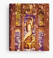 Mermaid Stain Glass Window Canvas Print