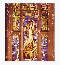 Mermaid Stain Glass Window Photographic Print