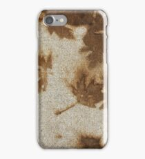 Brown maple leaf stains  iPhone Case/Skin