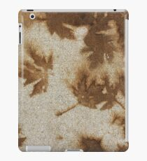 Brown maple leaf stains  iPad Case/Skin
