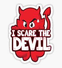 I Scare The Devil Sticker