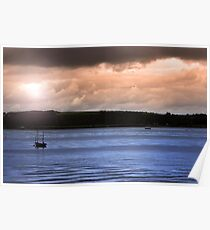 youghal boats at dusk Poster