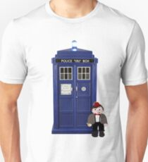 Eleven Cartoon with the TARDIS Unisex T-Shirt