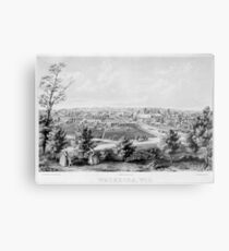 Panoramic Maps Waukesha Wisconson 002 Metal Print