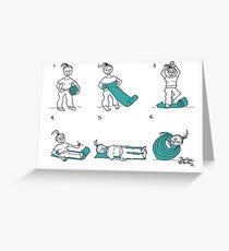yoga mat Greeting Card