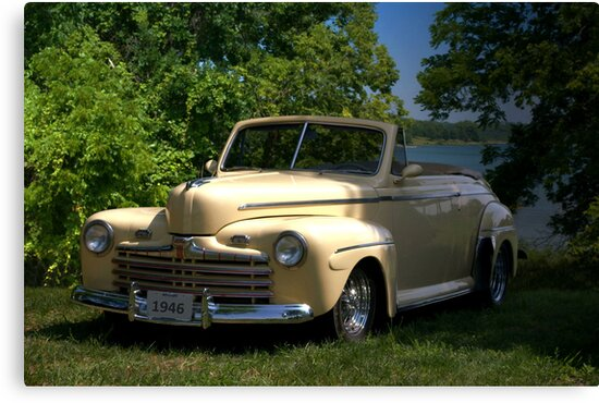 """1946 Ford Convertible """"Back to the Future"""" by TeeMack"""